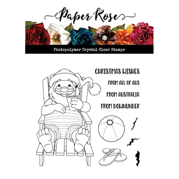 Paper Rose SUMMER SANTA Clear Stamps 20715
