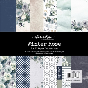 Paper Rose WINTER ROSE 6x6 Paper Pack 20706