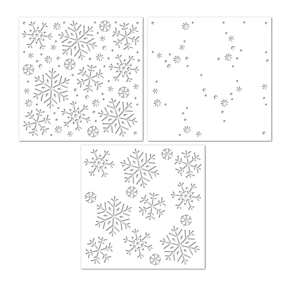 Simon Says Stamp Stencil LAYERING SNOWFLAKES ssst121518 zoom image