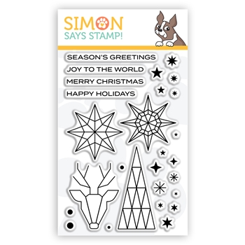 Simon Says Clear Stamps ABSTRACT HOLIDAY sss302253c