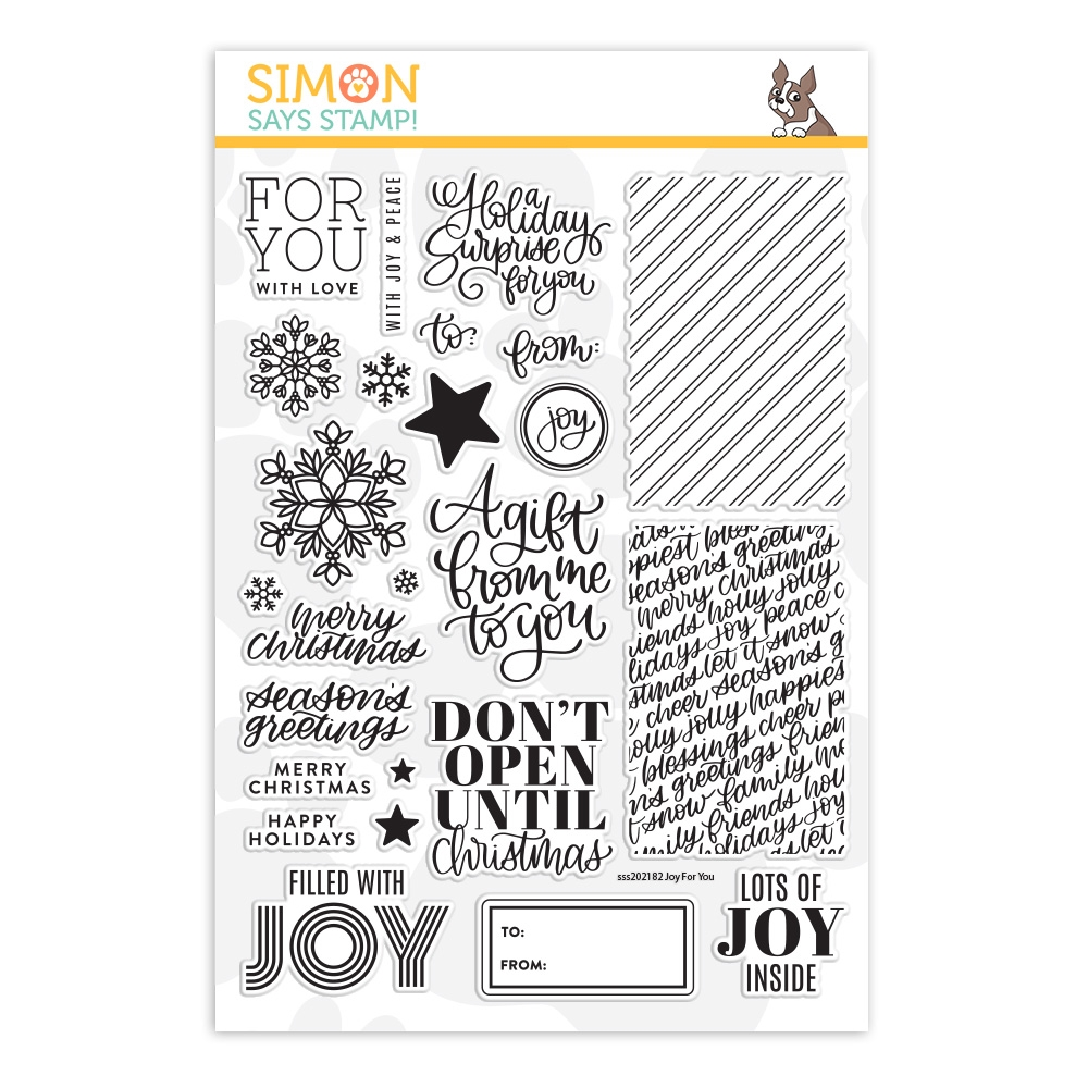 Simon Says Clear Stamps JOY FOR YOU sss202182 zoom image