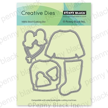 Penny Black GET COMFY CUT OUT Thin Metal Creative Dies 51 695*