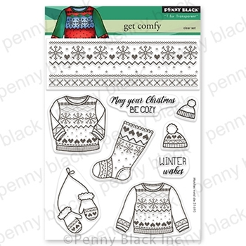 Penny Black Clear Stamps GET COMFY 30 775