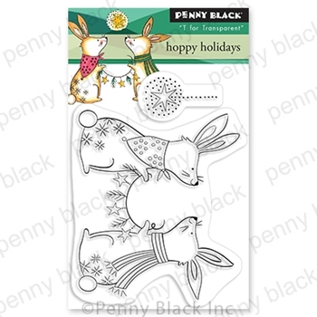 Penny Black Clear Stamps HOPPY HOLIDAYS 30 773