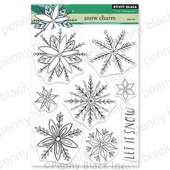 Penny Black Clear Stamps SNOW CHARM 30 772