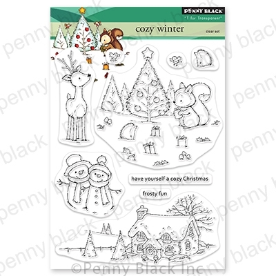 Penny Black Clear Stamps COZY CHRISTMAS 30 763 zoom image
