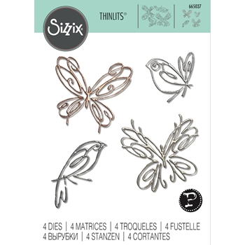Sizzix FLIGHT OF FANCY Thinlits Dies 665037
