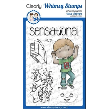 Whimsy Stamps POLKA DOT PALS TOBIAS Clear Stamps BS1021