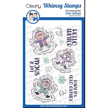 Whimsy Stamps SNOW ANGELS Clear Stamps KHB143