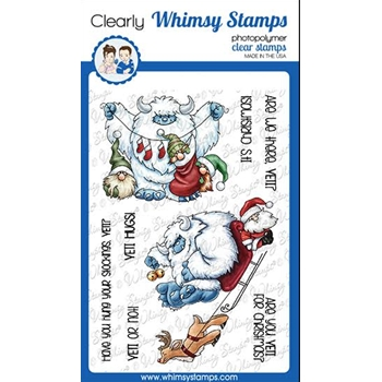 Whimsy Stamps YETI FOR CHRISTMAS Clear Stamps C1370