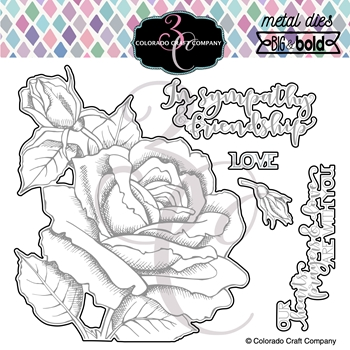 Colorado Craft Company BIG AND BOLD SYMPATHY AND FRIENDSHIP ROSE Dies BB353 D