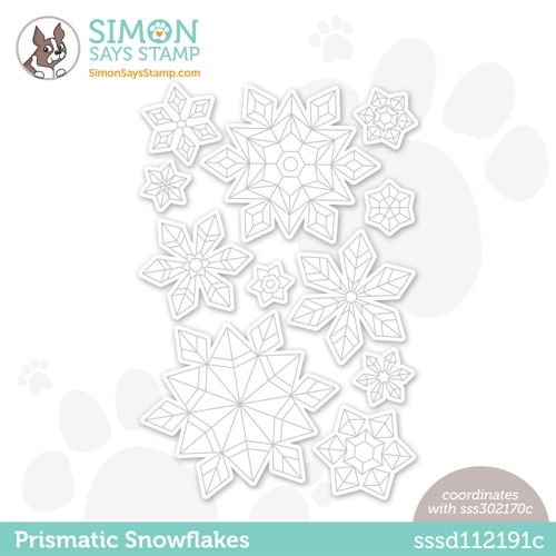 Simon Says Stamp PRISMATIC SNOWFLAKES Wafer Dies sssd112191c Diecember Preview Image