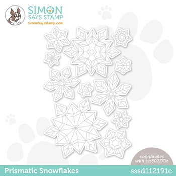 Simon Says Stamp PRISMATIC SNOWFLAKES Wafer Dies sssd112191c Diecember