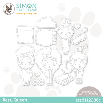 Simon Says Stamp REST QUEEN Wafer Dies sssd112286c *