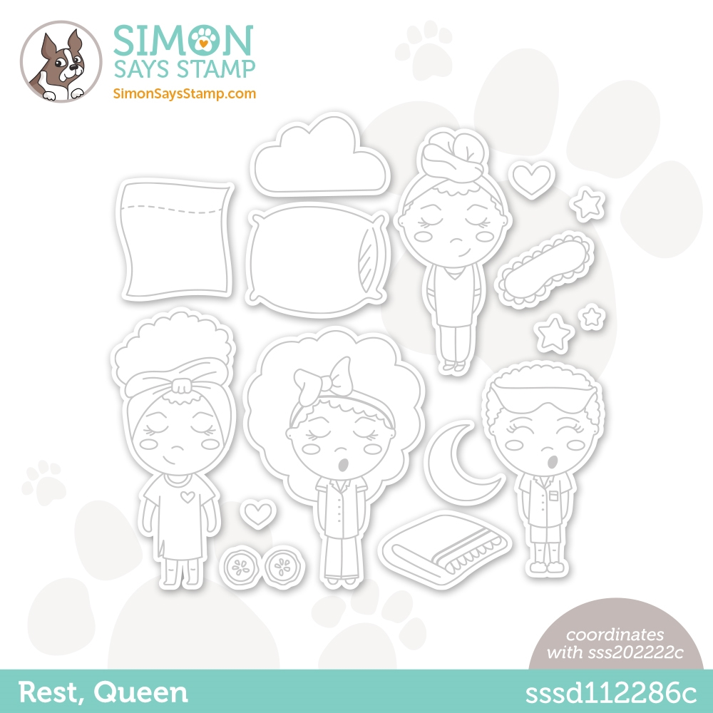 Simon Says Stamp REST QUEEN Wafer Dies sssd112286c Diecember zoom image