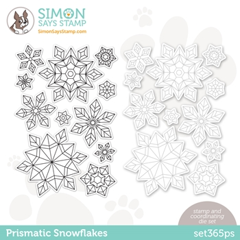 Simon Says Stamps and Dies PRISMATIC SNOWFLAKES set365ps Diecember