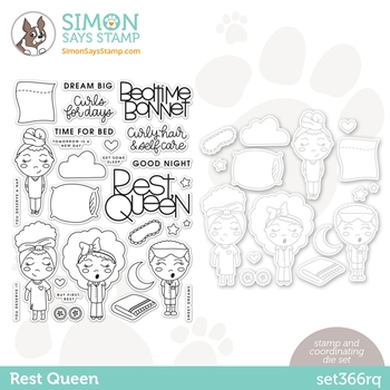Simon Says Stamps and Dies REST QUEEN set366rq Diecember