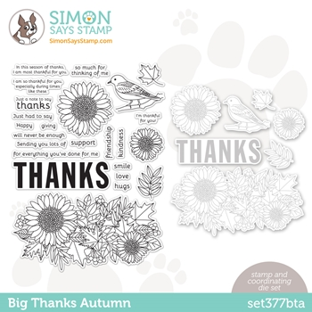 Simon Says Stamps and Dies BIG THANKS AUTUMN set377bta Diecember