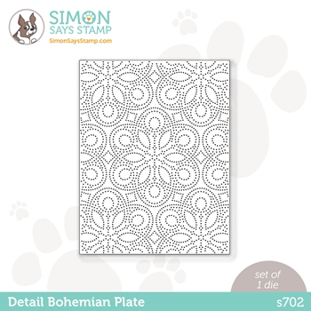 Simon Says Stamp DETAIL BOHEMIAN PLATE Wafer Die s702 Diecember