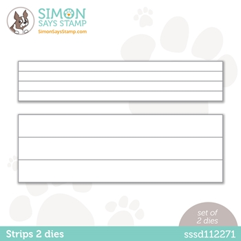 Simon Says Stamp STRIPS 2 Wafer Dies sssd112271 Diecember