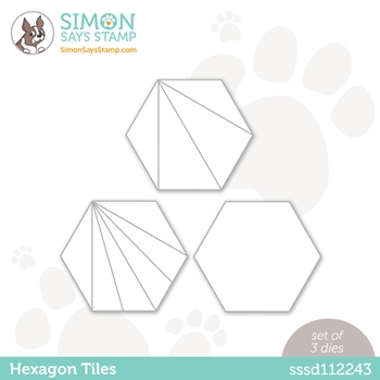 Simon Says Stamp HEXAGON TILE Wafer Dies sssd112243 Diecember
