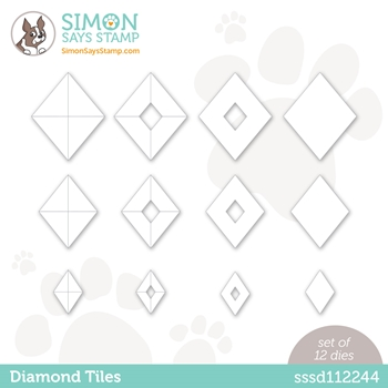 Simon Says Stamp DIAMOND TILES Wafer Dies sssd112244 Diecember