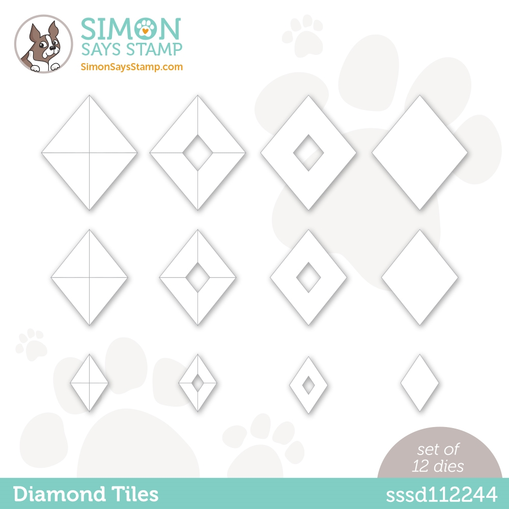 Simon Says Stamp DIAMOND TILES Wafer Dies sssd112244 Diecember zoom image