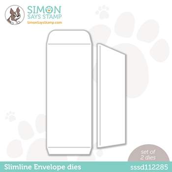 Simon Says Stamp SLIMLINE ENVELOPE Wafer Dies sssd112285 Diecember