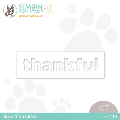 CZ Design BOLD THANKFUL Wafer Dies czd119 Diecember Preview Image
