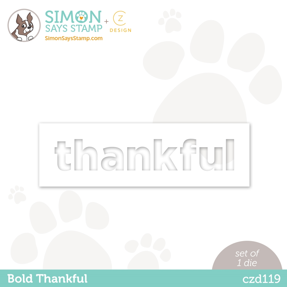 CZ Design BOLD THANKFUL Wafer Dies czd119 Diecember zoom image