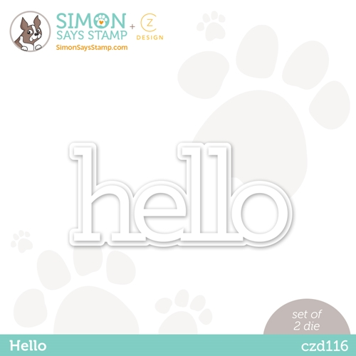 CZ Design HELLO Wafer Dies czd116 Diecember Preview Image