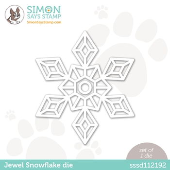 Simon Says Stamp JEWEL SNOWFLAKE Wafer Die sssd112192 Diecember