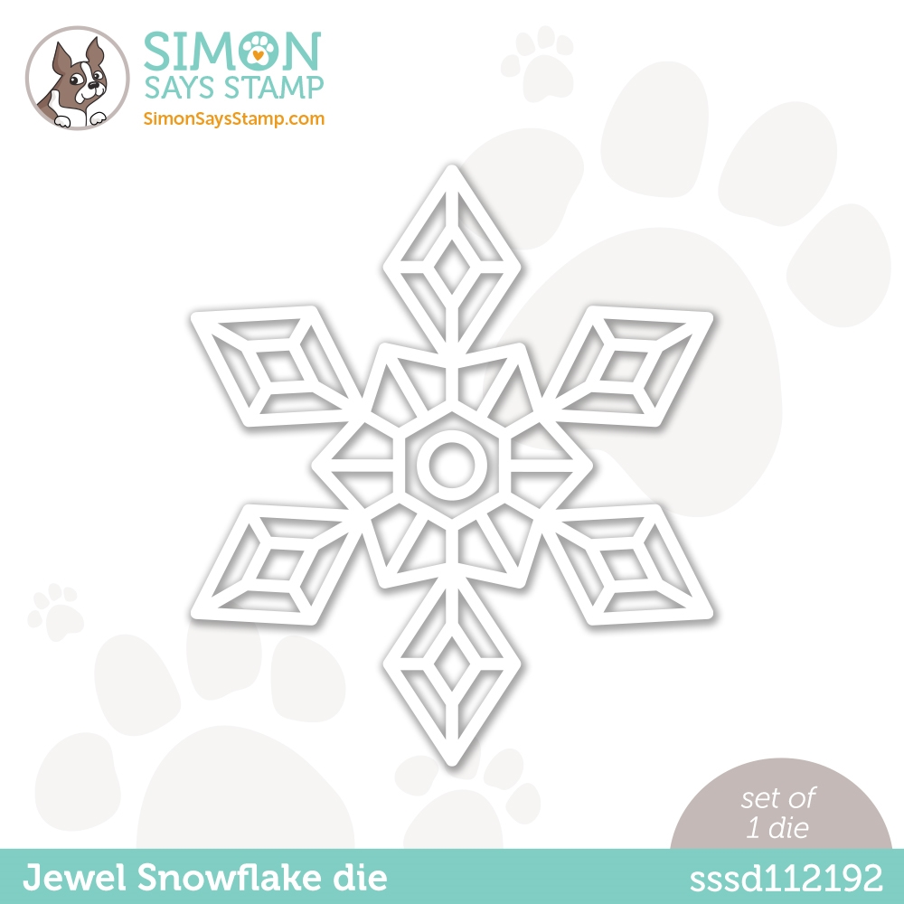 Simon Says Stamp JEWEL SNOWFLAKE Wafer Die sssd112192 Diecember zoom image
