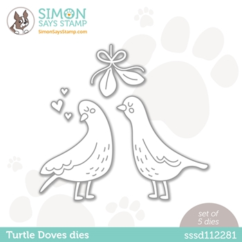 Simon Says Stamp TURTLE DOVES Wafer Dies sssd112281 Diecember