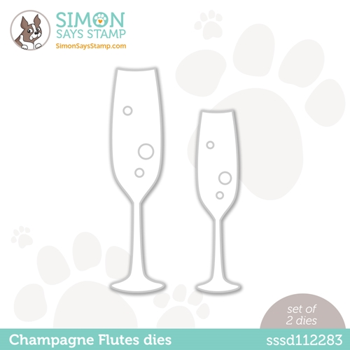 Simon Says Stamp CHAMPAGNE FLUTES Wafer Dies sssd112283 Diecember Preview Image