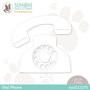 Simon Says Stamp DIAL PHONE Wafer Die sssd112275