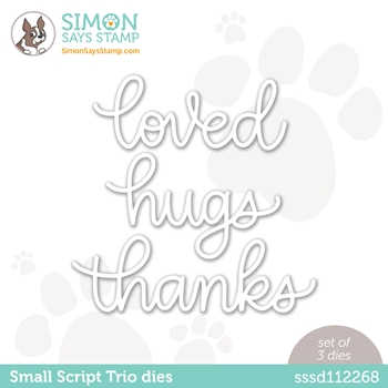 Simon Says Stamp SMALL SCRIPT TRIO Wafer Dies sssd112268 Diecember