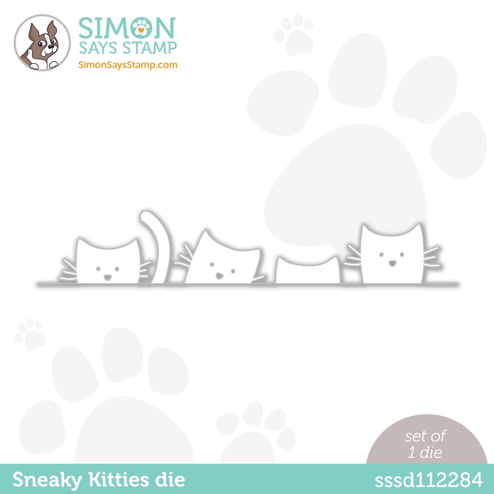 Simon Says Stamp SNEAKY KITTIES Wafer Die sssd112284 Diecember zoom image