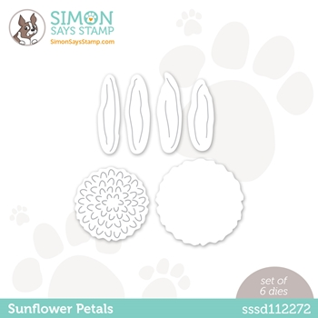 Simon Says Stamp SUNFLOWER PETALS Wafer Dies sssd112272 Diecember
