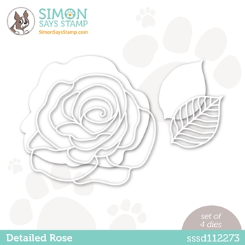 Simon Says Stamp DETAILED ROSE Wafer Die sssd112273 Diecember