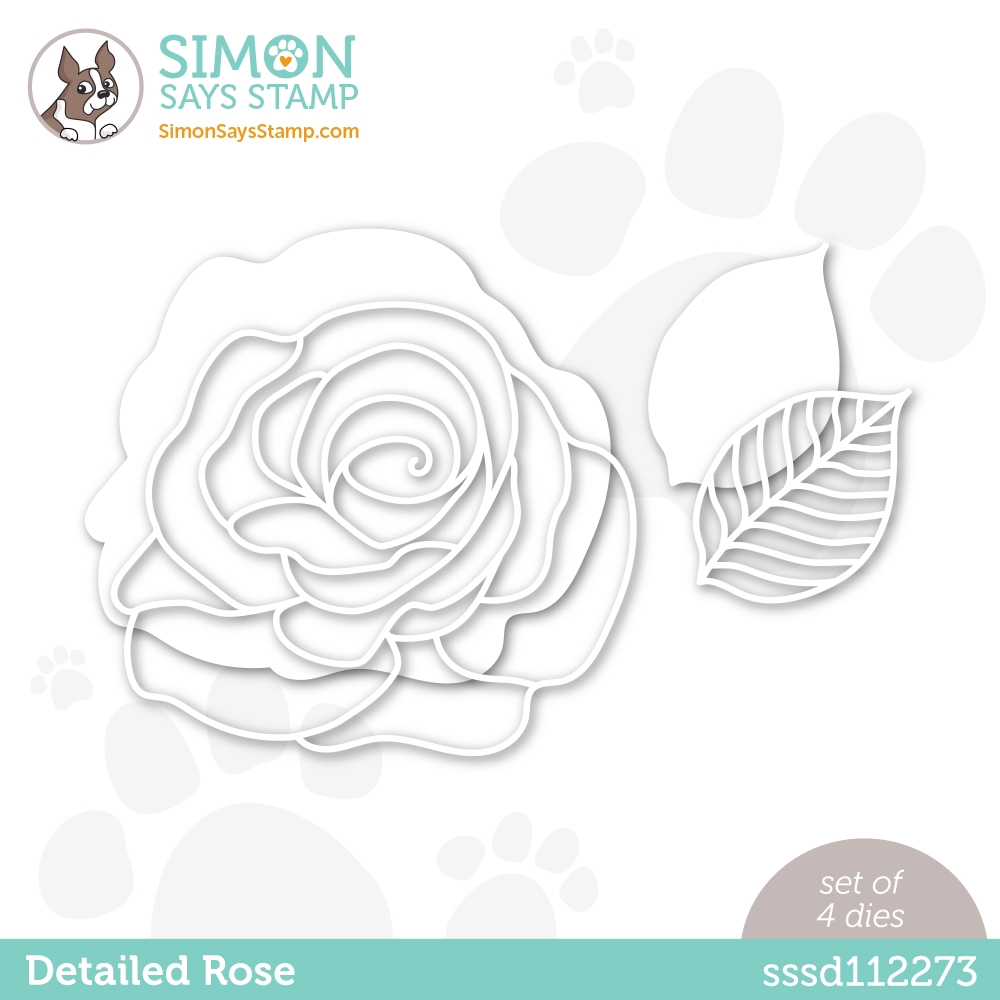 Simon Says Stamp DETAILED ROSE Wafer Die sssd112273 Diecember zoom image