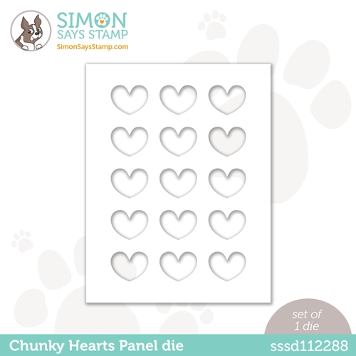 Simon Says Stamp CHUNKY HEARTS PANEL Wafer Die sssd112288 Diecember Preview Image