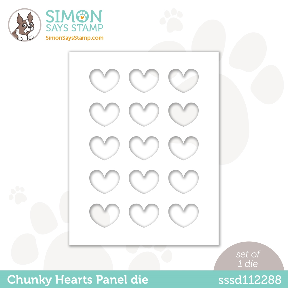 Simon Says Stamp CHUNKY HEARTS PANEL Wafer Die sssd112288 Diecember zoom image