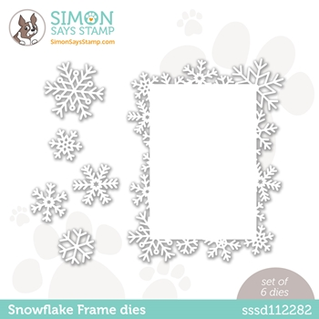Simon Says Stamp SNOWFLAKE FRAME Wafer Die sssd112282 Diecember