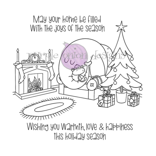 Purple Onion Designs COZY HOLIDAY Cling Stamp pod3035 Preview Image
