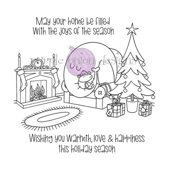 Purple Onion Designs COZY HOLIDAY Cling Stamp pod3035