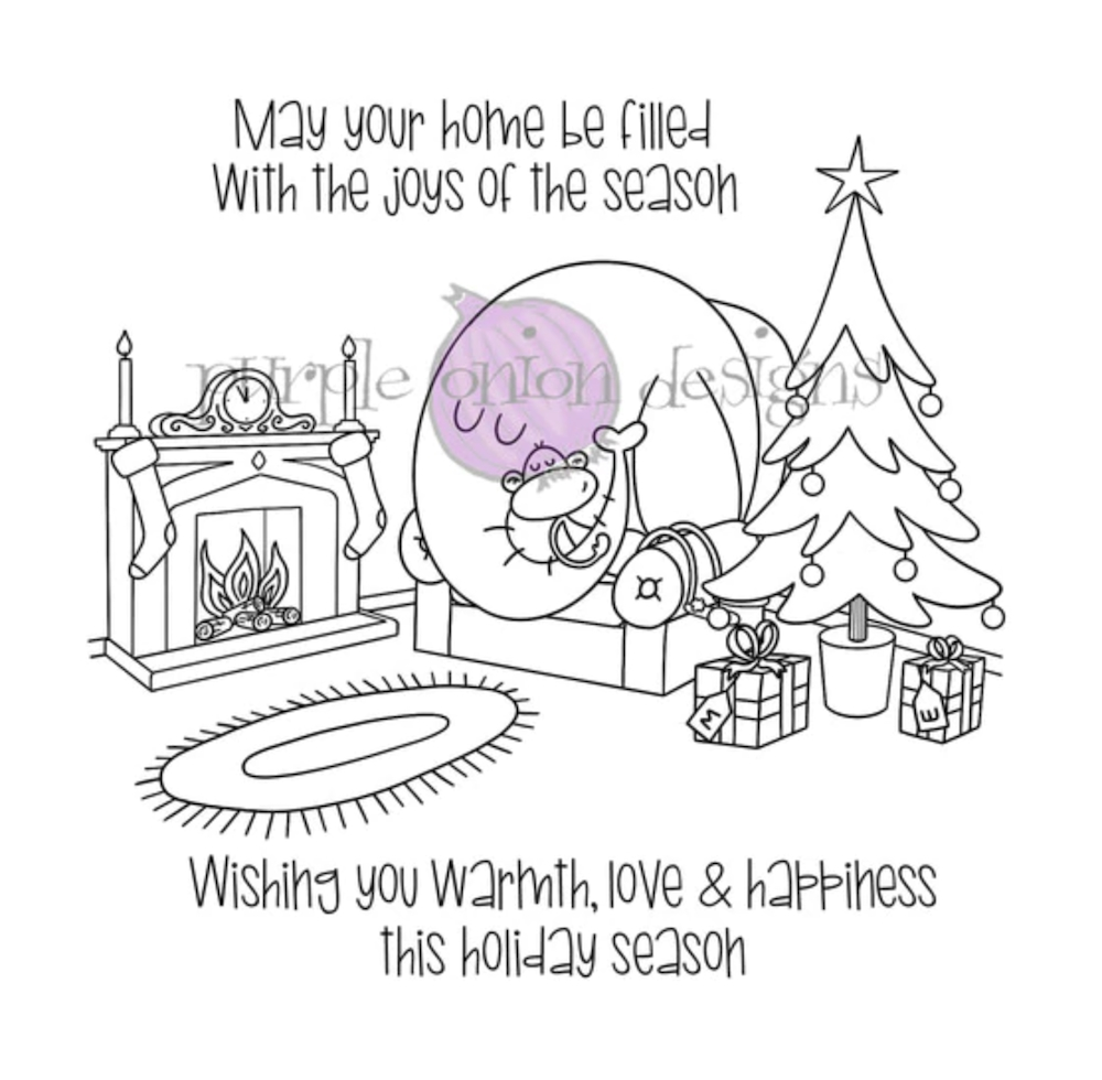 Purple Onion Designs COZY HOLIDAY Cling Stamp pod3035 zoom image