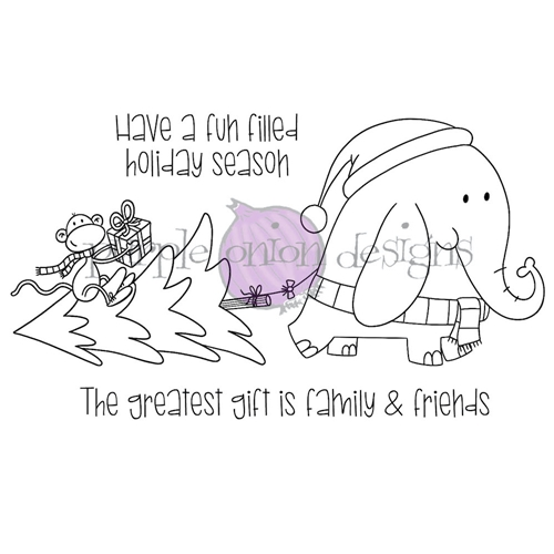 Purple Onion Designs HOLIDAY SHOPPING Cling Stamp pod3033 Preview Image