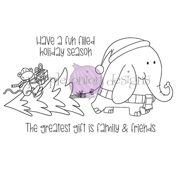 Purple Onion Designs HOLIDAY SHOPPING Cling Stamp pod3033