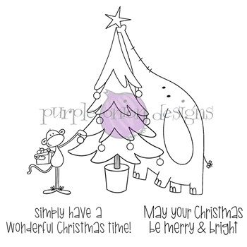 Purple Onion Designs TREE DECORATING Cling Stamp pod3034